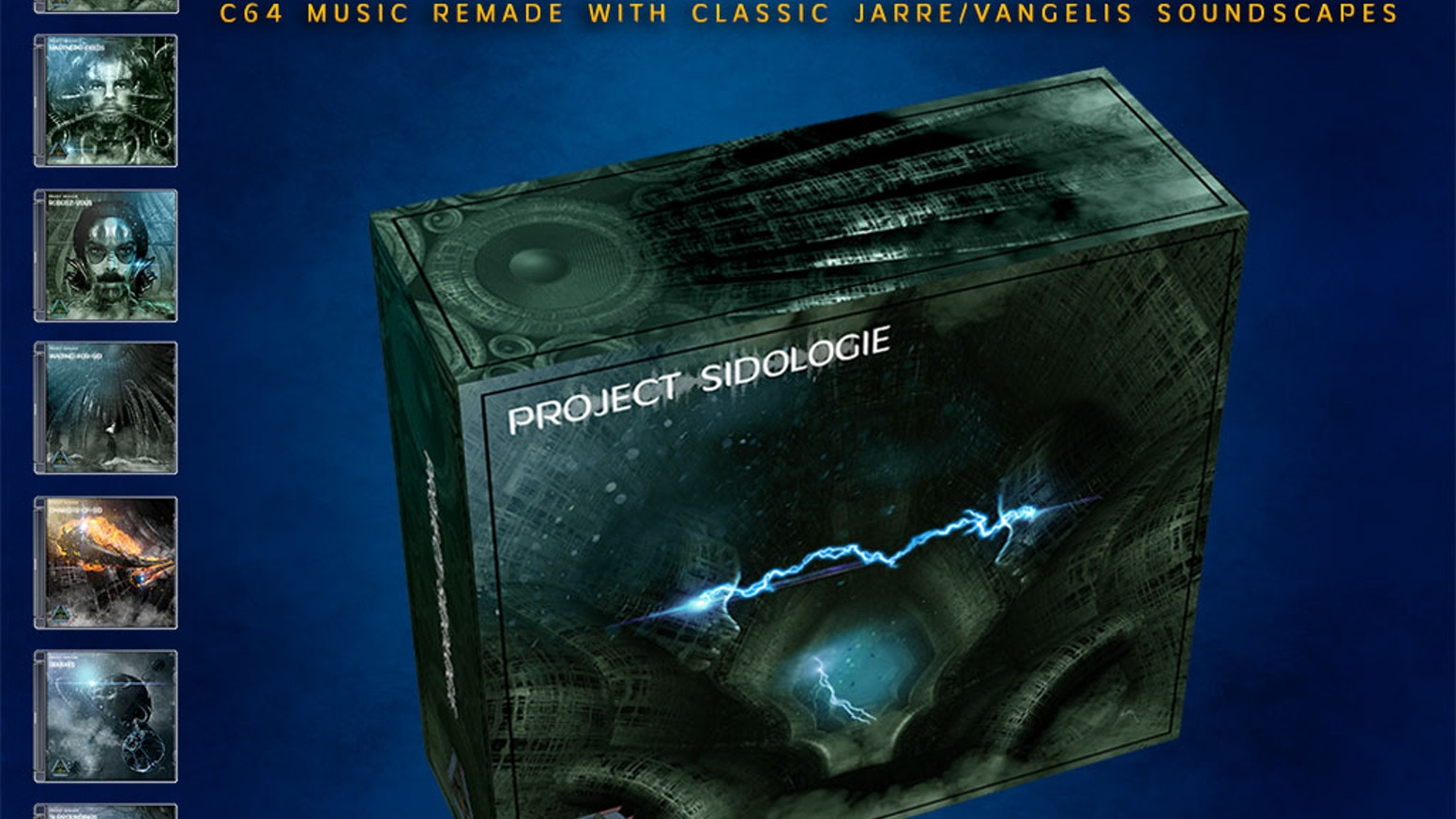 Project Sidologie by Marcel Donné - this luxury box set features Commodore 64 music remakes with classic JARRE and Vangelis soundscapes