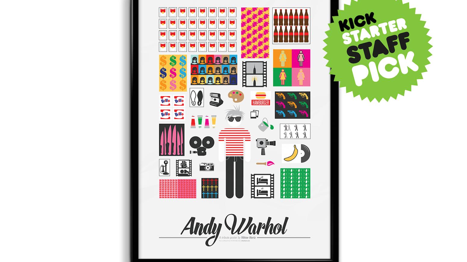 Andy Warhol pictogram poster by Viktor Hertz — Kickstarter