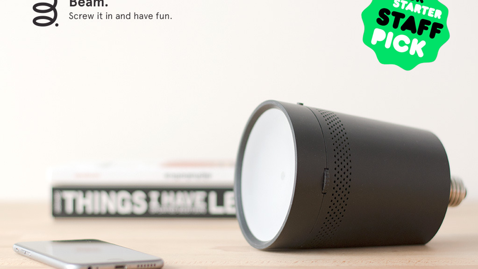 The smart projector that assists you in your daily activities, controlled with your smartphone or tablet. Screw it in and have fun!