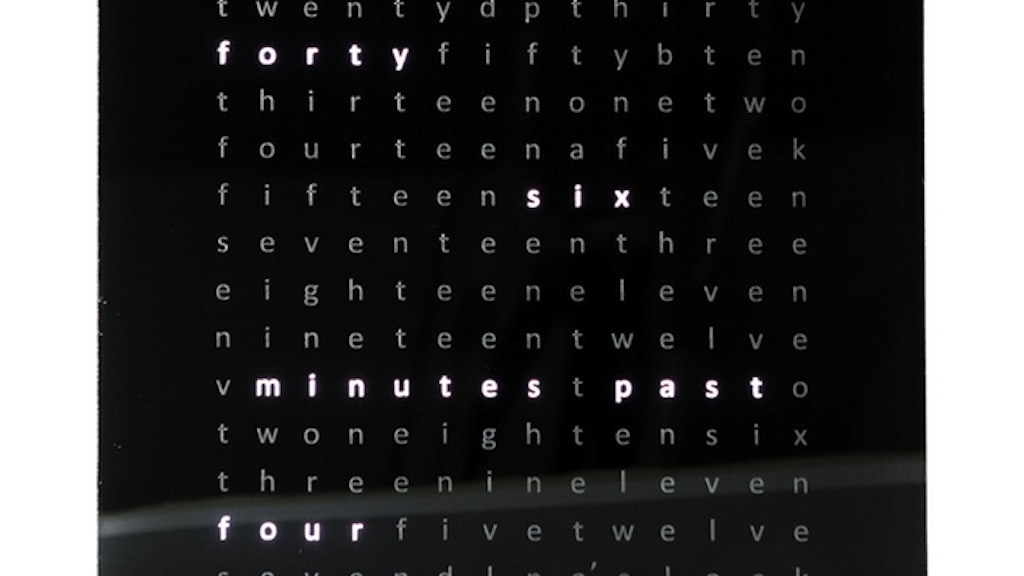 ClockFOUR Chronogram - a full color word clock project video thumbnail