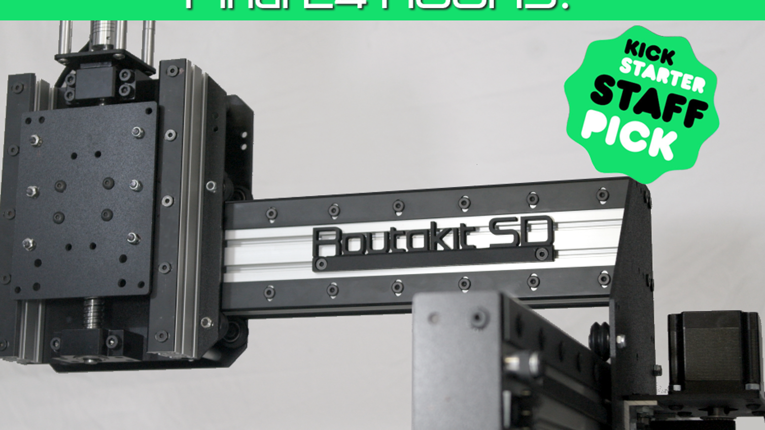 Affordable and highly modifiableopen source CNC routers for heavier duty projects. Two models to choose from with high precision and rigidity. Missed the campaign? Click the pre-order button below to reserve your Routakit CNC.