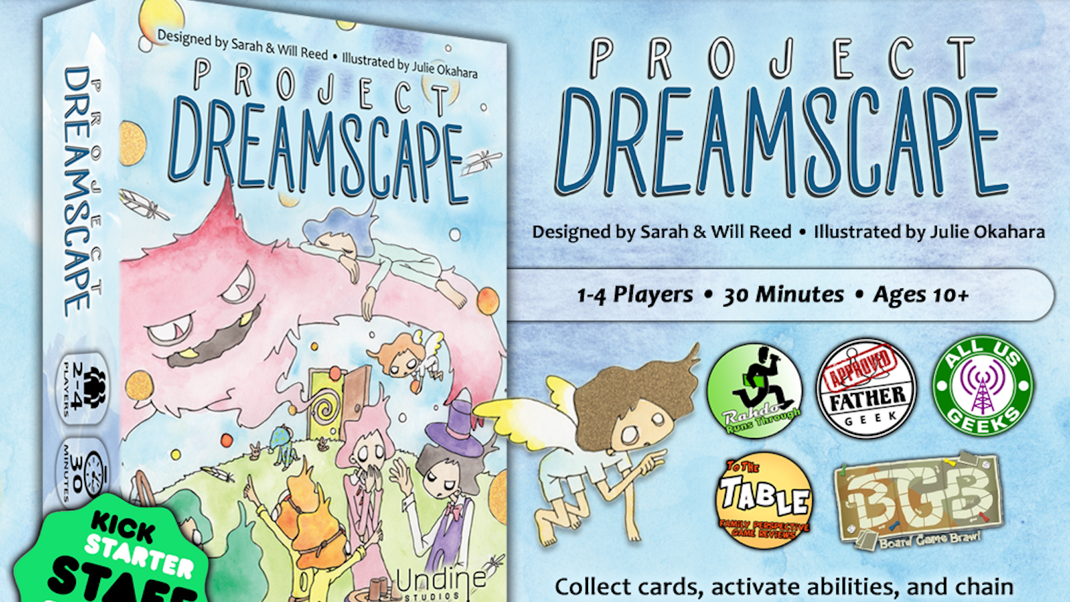 Collect cards, activate abilities, and chain together matching dream types in this unique set-collection game about dreaming big!