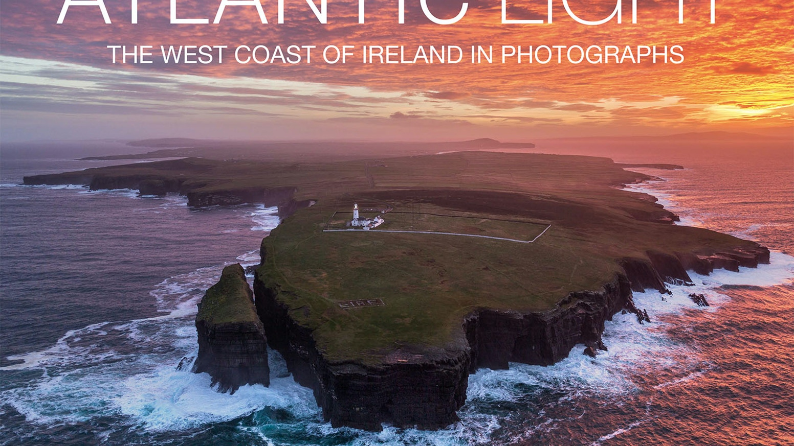 A beautifully presented hardcover book of aerial photographs that show the west coast of Ireland as it's never been seen before.