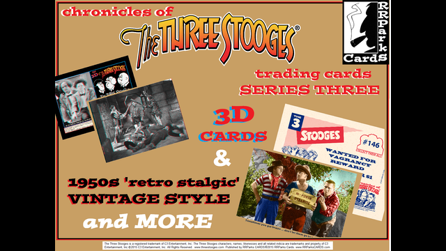 the three stooges 3d 1950s trading cards series three by. Black Bedroom Furniture Sets. Home Design Ideas