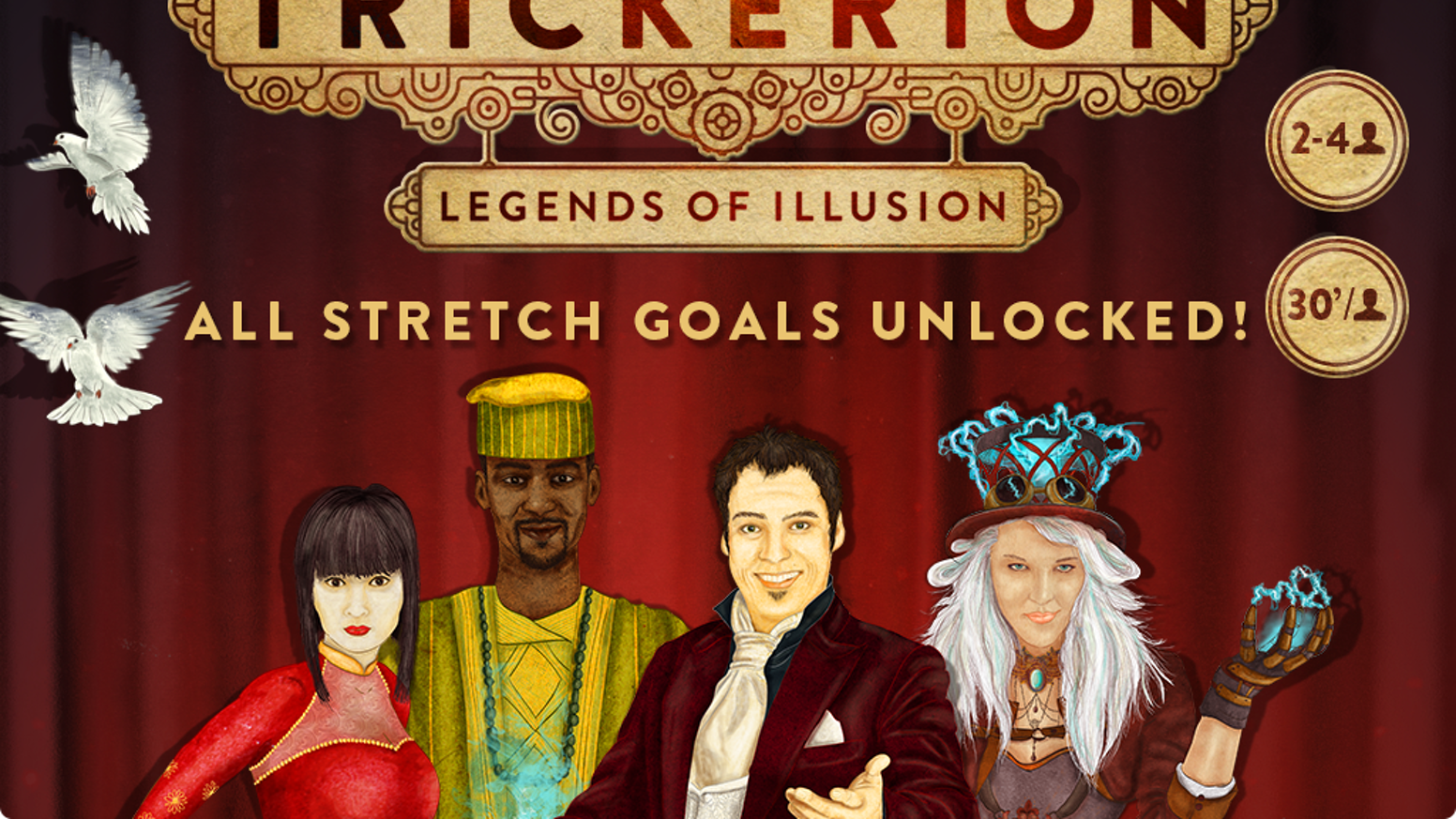A strategy game of magic and deception, where aspiring  Illusionists clash in a grand contest for fame and fortune.