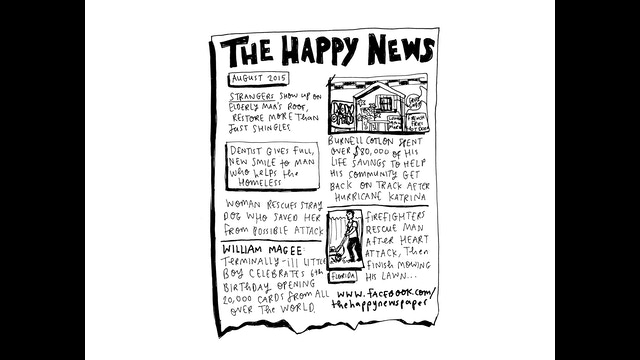The Happy Newspaper by Emily Coxhead —Kickstarter