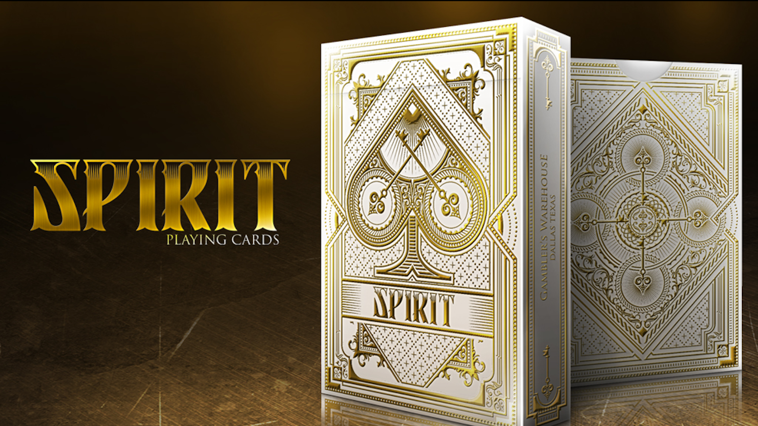 Elegant SPIRIT Custom Playing Cards from Gambler's Warehouse printed by USPCC. Including a Bicycle Limited Edition Run.