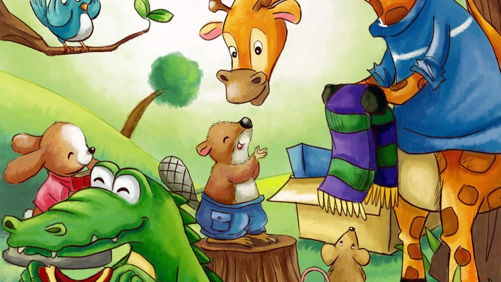 George The Generous Giraffe | Kid's Book About Generosity project video thumbnail