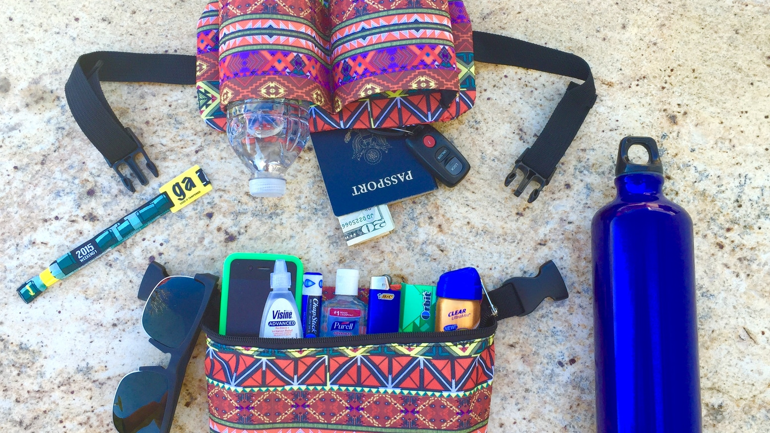 A Hydration Fanny Pack that allows you to safely explore music festivals with an eco-friendly mind, and will save you money.