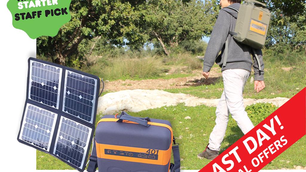 KaliPAK -  A Revolutionary Portable Solar Energy Generator project video thumbnail
