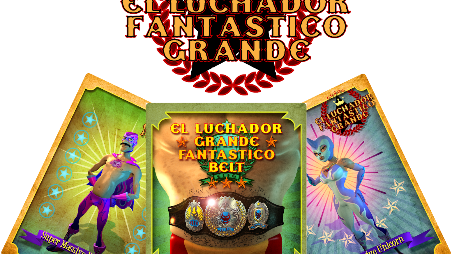 El Luchador Fantastico Grande, the Mexican wrestling dice and card brawler for 2-4 players!