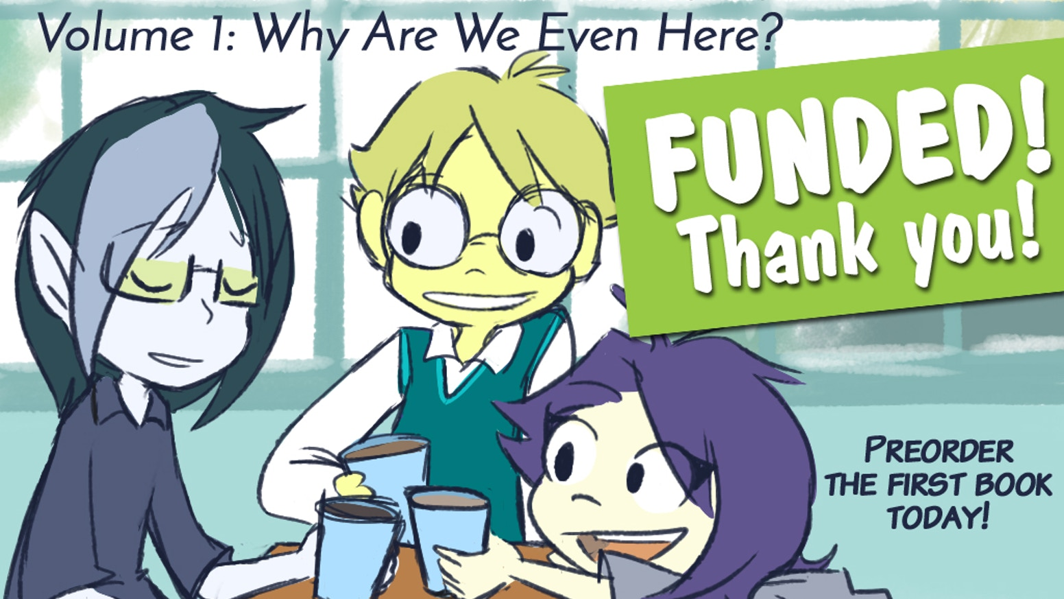 Cammiluna's online comic about a group of socially-dysfunctional smart(?) people and experiments is ready for its first print run!!!