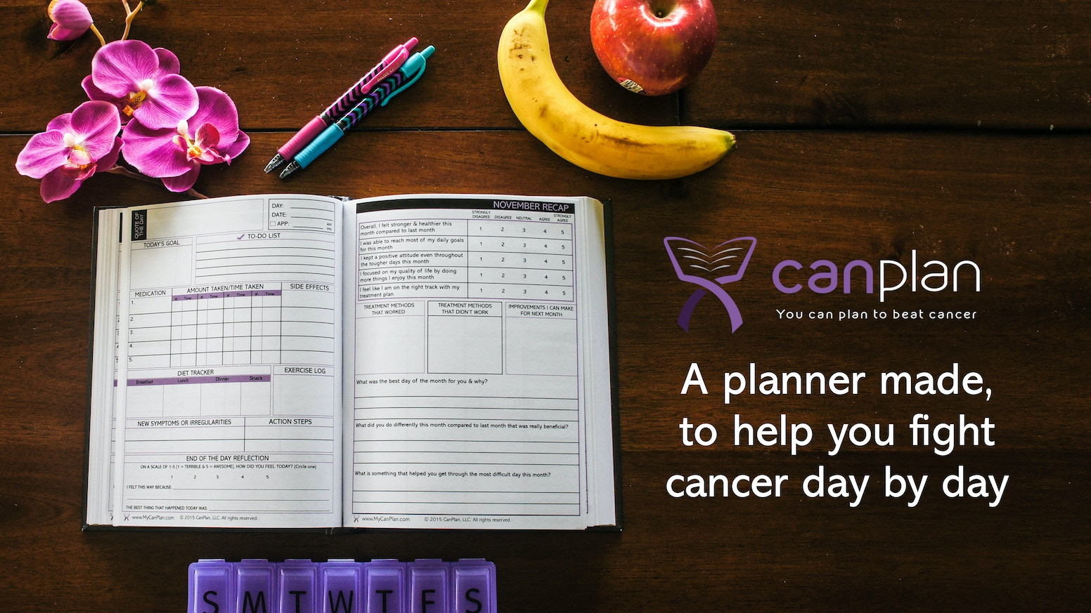 CanPlan isn't simply just a cancer planner: It's a roadmap to recovery, a book that'll put you in control. You Can Plan to beat cancer.