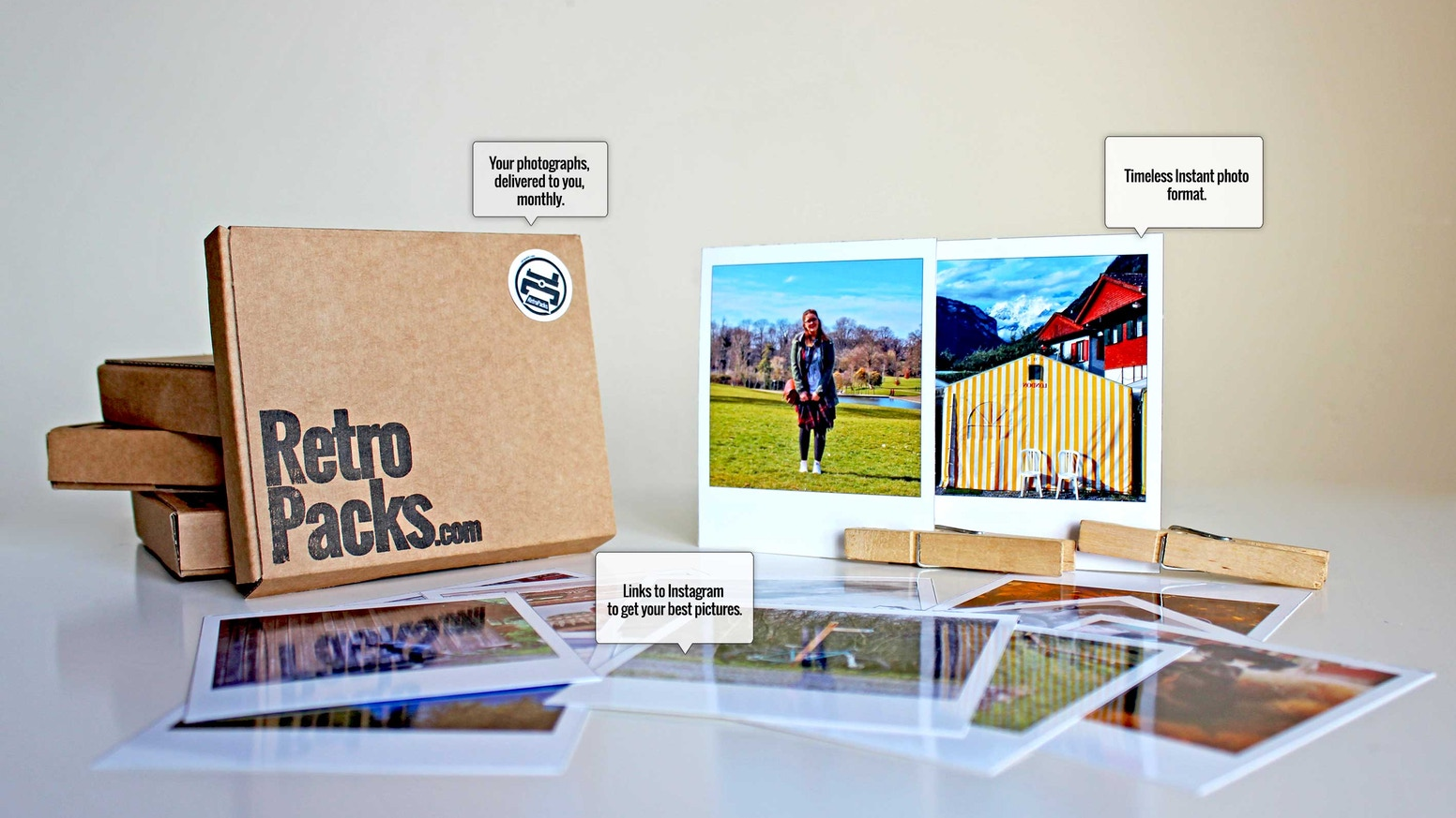 A monthly subscription service that links to Instagram to bring physical photographs back to life.