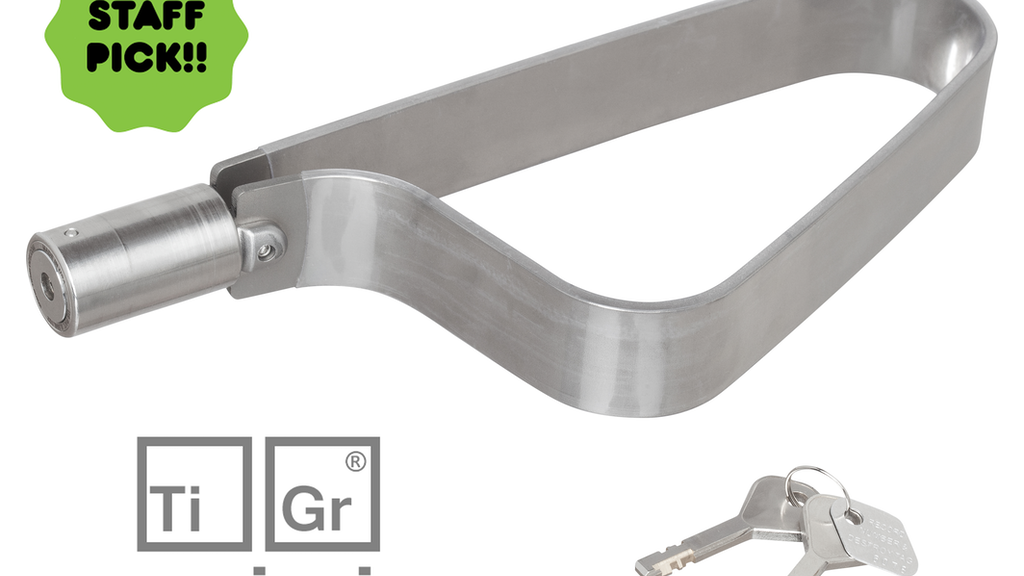 TiGr® mini: cool, simple, light, secure titanium bike lock project video thumbnail