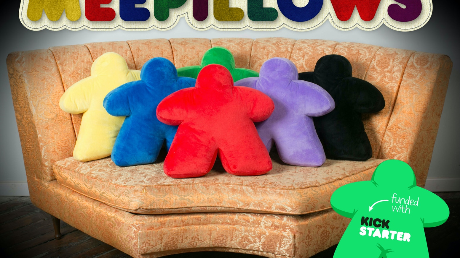 Liven up any room in your home with a big, chic, huggably soft board game bit pillow - the iconic meeple!