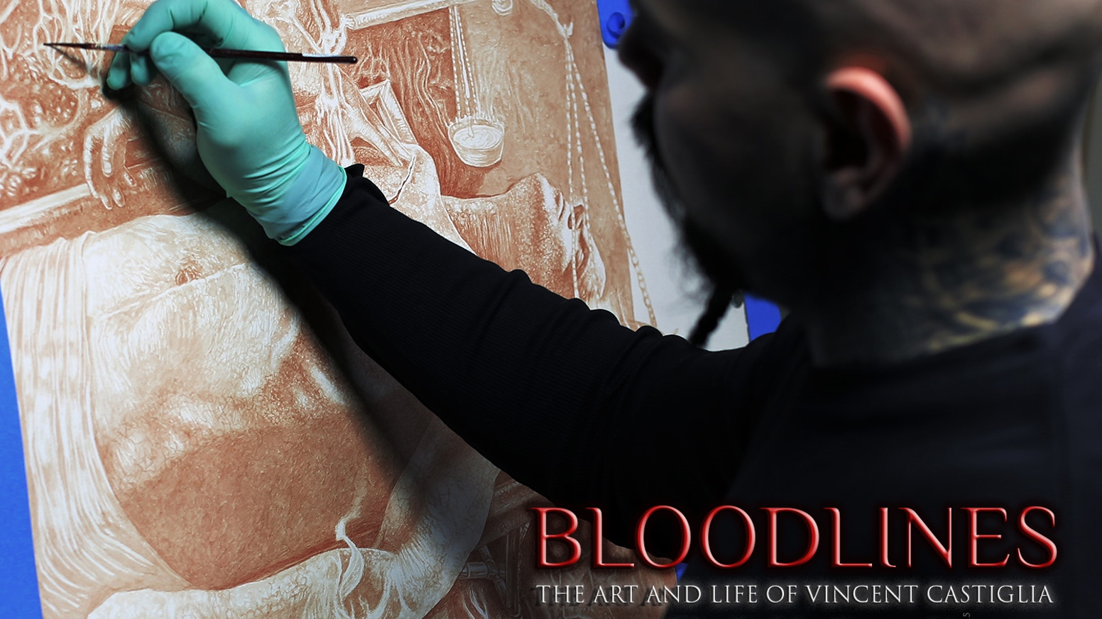 Bloodlines: The Art and Life of Vincent Castiglia is a feature documentary film produced and directed by award-winning filmmaker John Borowski. Vincent's work is singularly unique.  For over a decade, he has painted exclusively in his own blood.