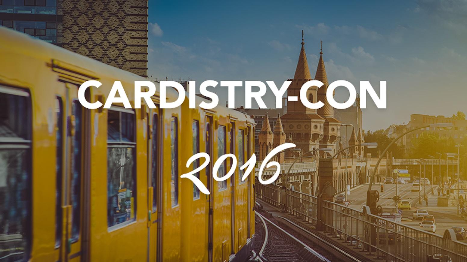 Global Cardistry Meetup.  Join us July 8-10 in Berlin, Germany.