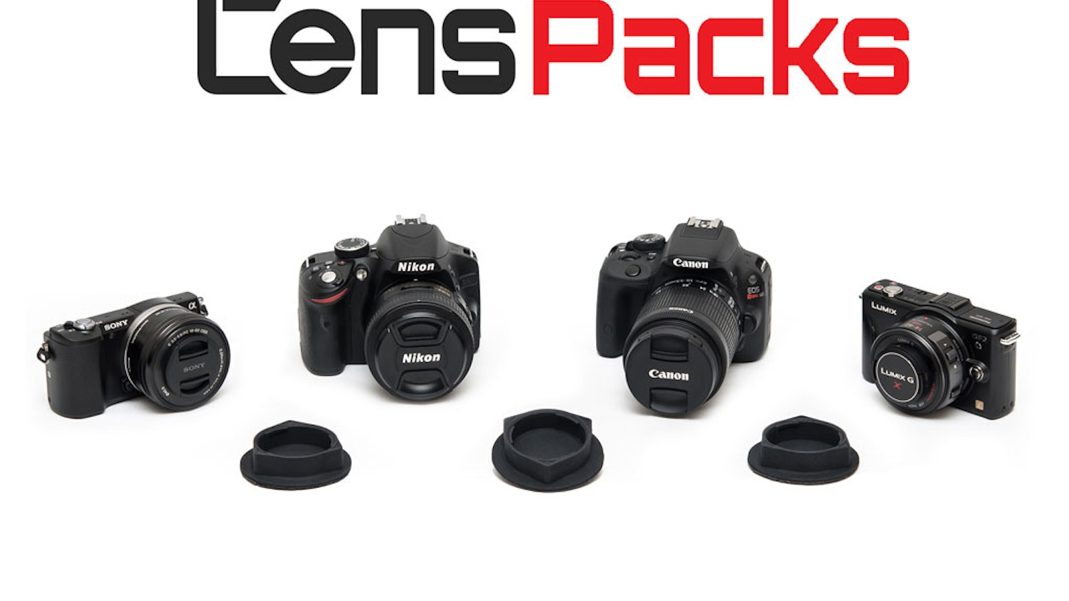 An innovative and easy-to-use Velcro lens cap system that allows for quick camera lens changes.
