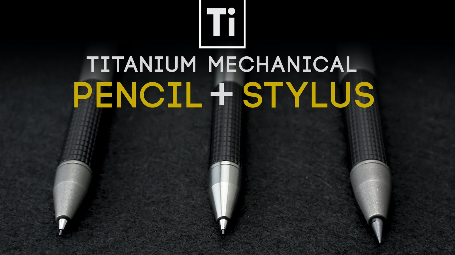 Refined Ti Mechanical Pencils w/ interchangeable stylus caps & hidden erasers + Free Shipping!