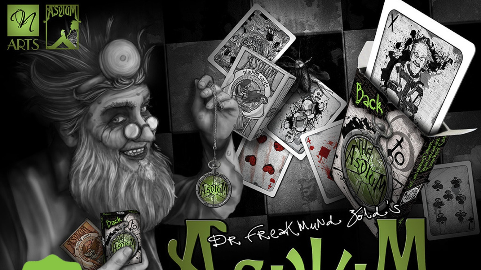"""Something old, something new, face the madness deja vu..."" Moment of madness embodied in two beautifully deranged decks of cards!"