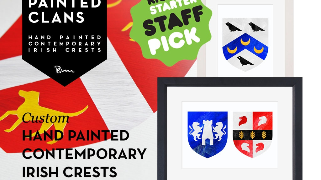Painted Clans - Hand painted contemporary Irish crests project video thumbnail