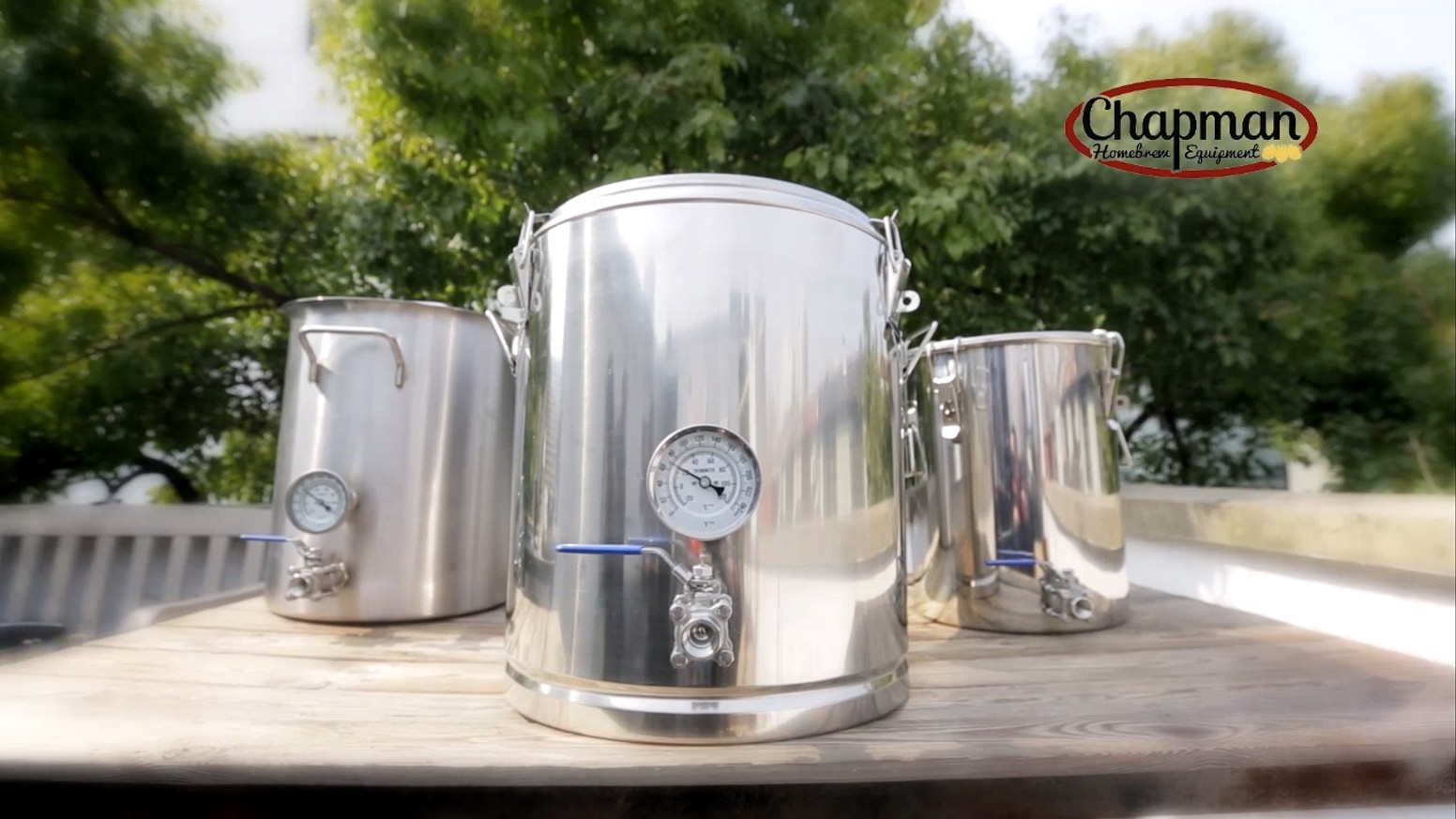 Introducing the ThermoBarrel™ insulated mash tun, SteelTank™ stainless steel fermenter, and Heavy Kettler™ tri-clad brew kettle.