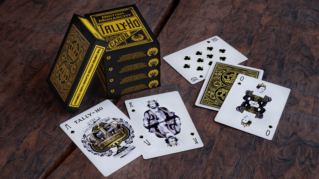 British Monarchy Tally-Ho Playing Cards, printed by USPCC project video thumbnail