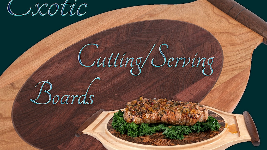 Exotic Inlayed End Grain Cutting and Serving Boards project video thumbnail