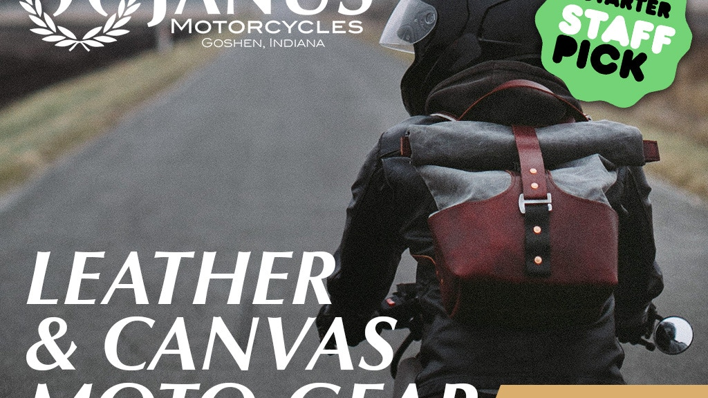 Leather & Canvas Moto-Gear | Launch A New Janus Motorcycle! project video thumbnail