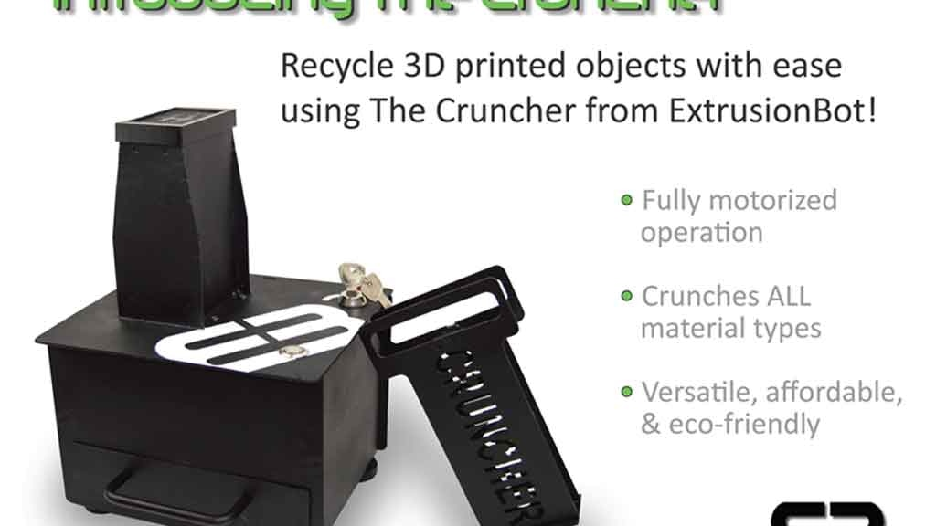 3D Print Recycler - Introducing The Cruncher! project video thumbnail