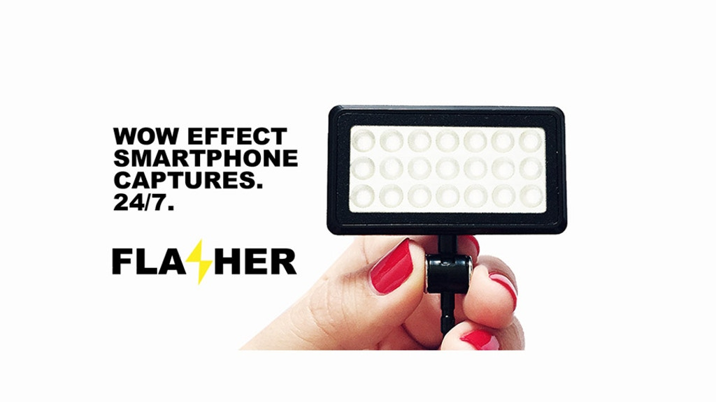 Project image for FLASHER. For WOW effect of mobile photo & video captures.