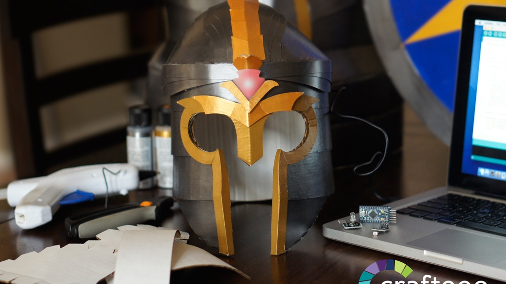 Make your own cardboard armor with programmable lights project video thumbnail