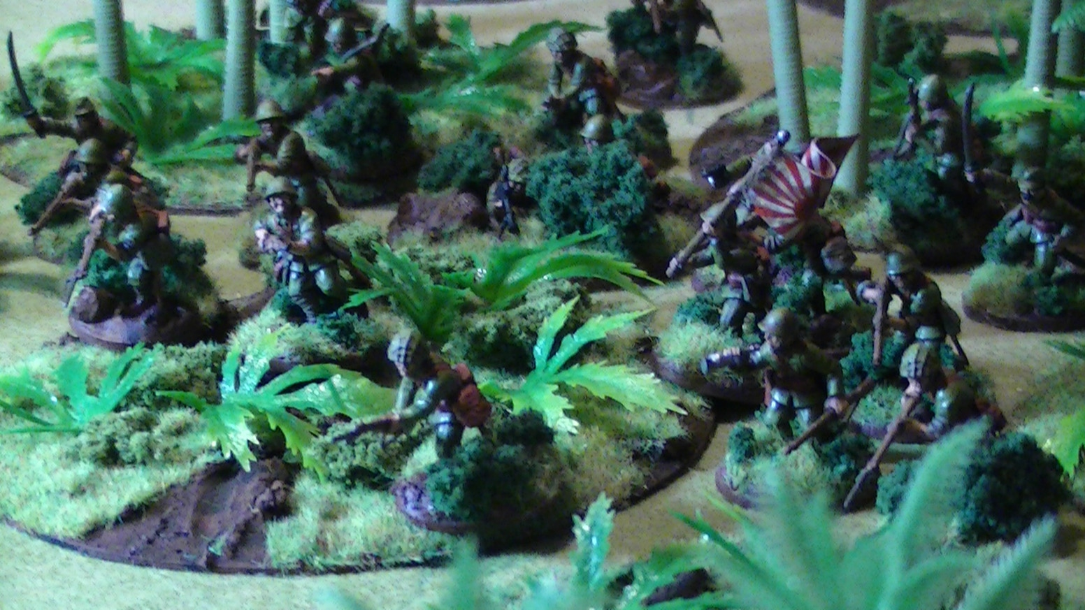 Ready to Play Jungle Terrain in 28mm for game systems such as Bolt Action or Chain of command set in the jungles of Burma or Indo-China