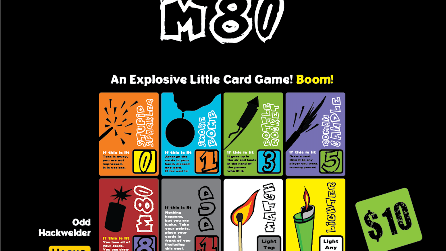 It's time to play with fireworks, but be careful - an M80 might explode in your hand!