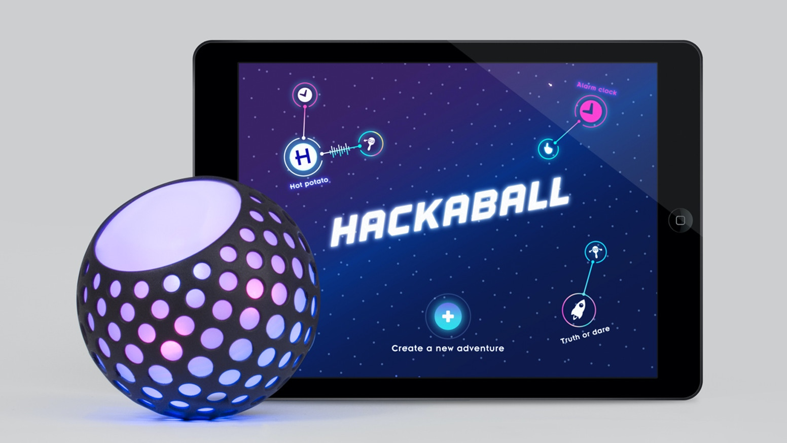Hackaball is a smart and responsive ball that children can program to invent and play games.