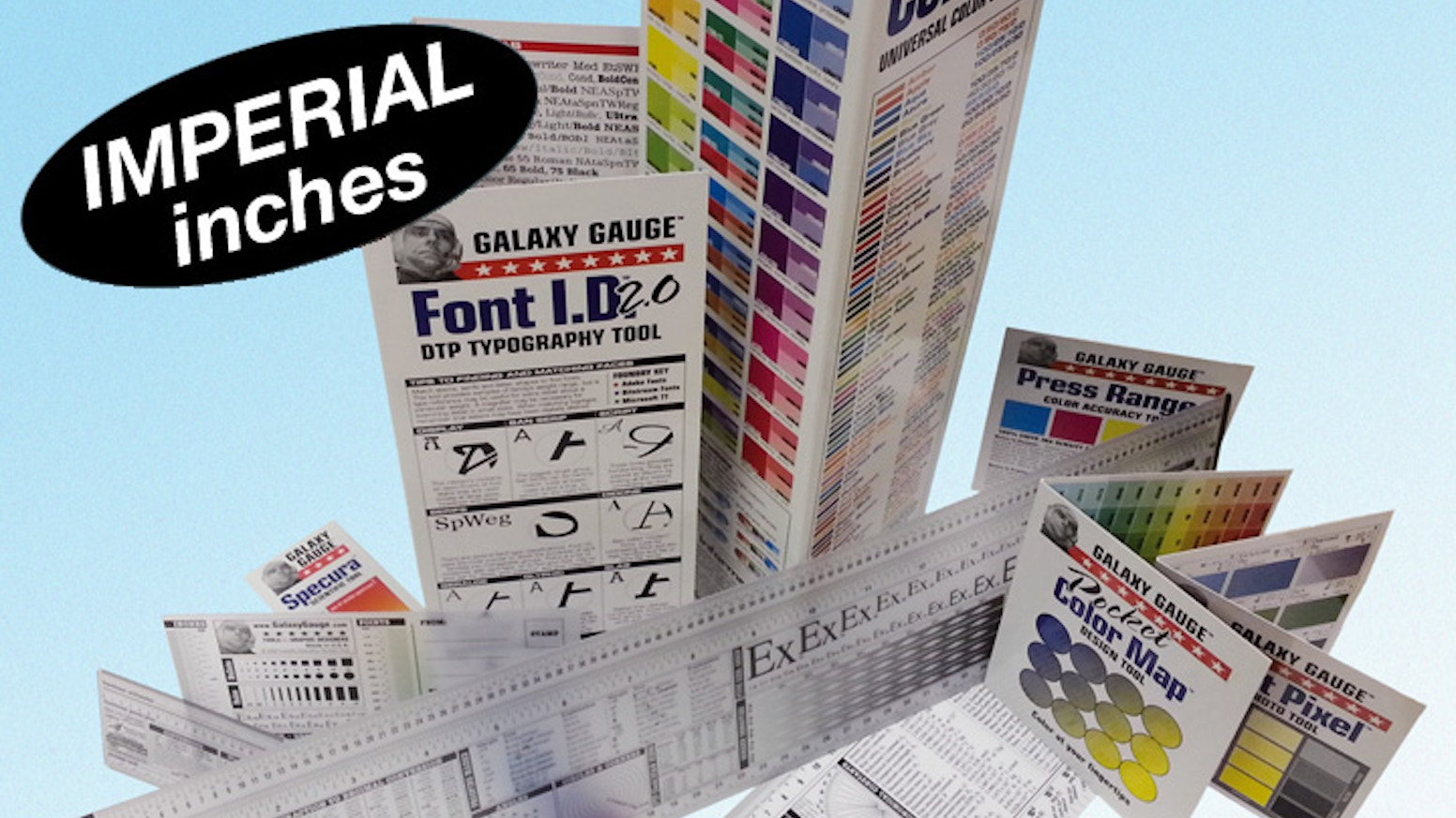 Typography and Graphics Gauge CMYK Set - INCHES & PICAS by Mike