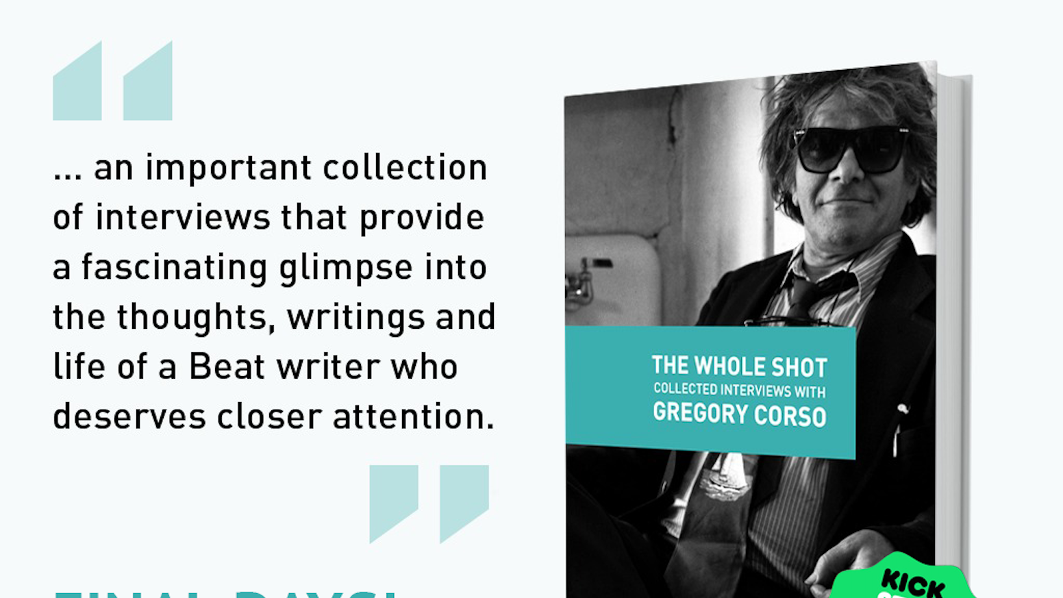The Whole Shot: Interviews with Beat poet Gregory Corso by