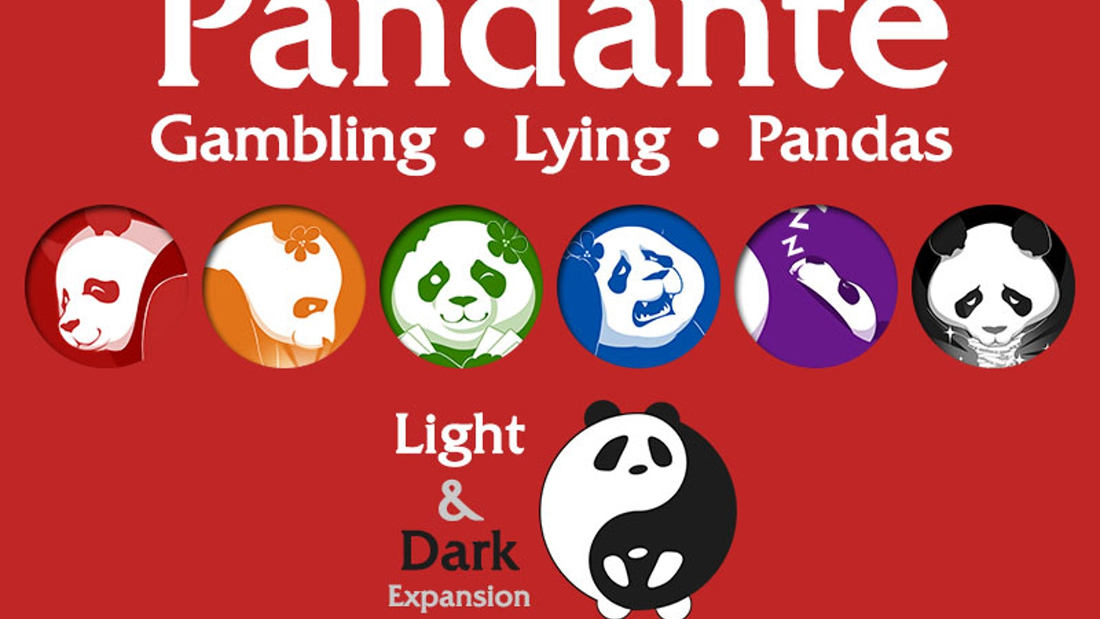 This is a Panda-themed gambling game about getting away with lying and laughing about it. Expansion and new base sets available.