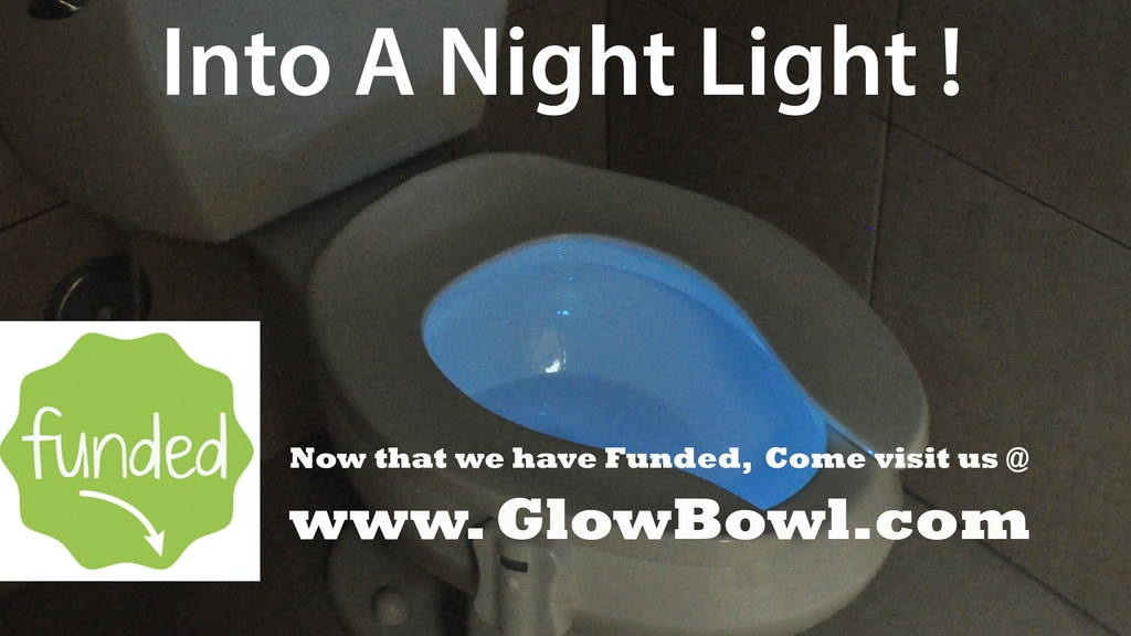 GlowBowl - Motion Activated Night Light For Your Toilet project video thumbnail