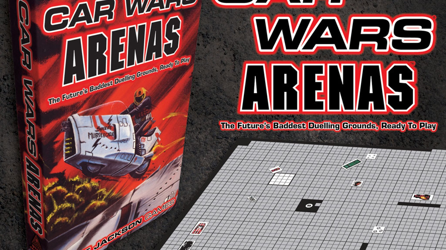 The most dangerous arenas in autoduelling history, printed at full scale and ready to play.