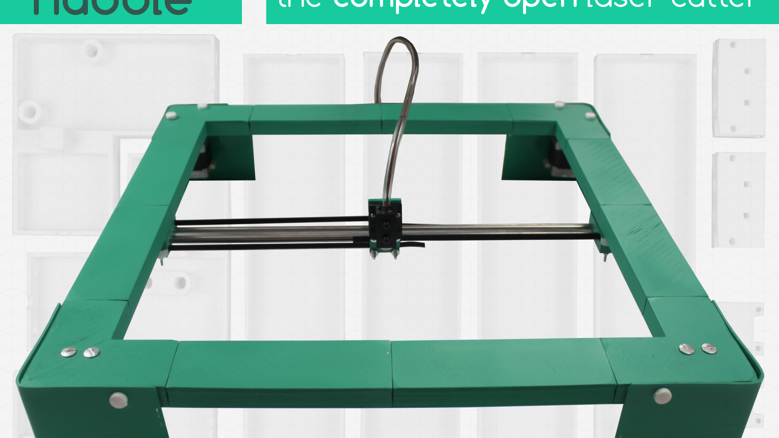Hubble is the first 100% open, affordable laser cutter suite — from replicable hardware to community driven software & firmware.