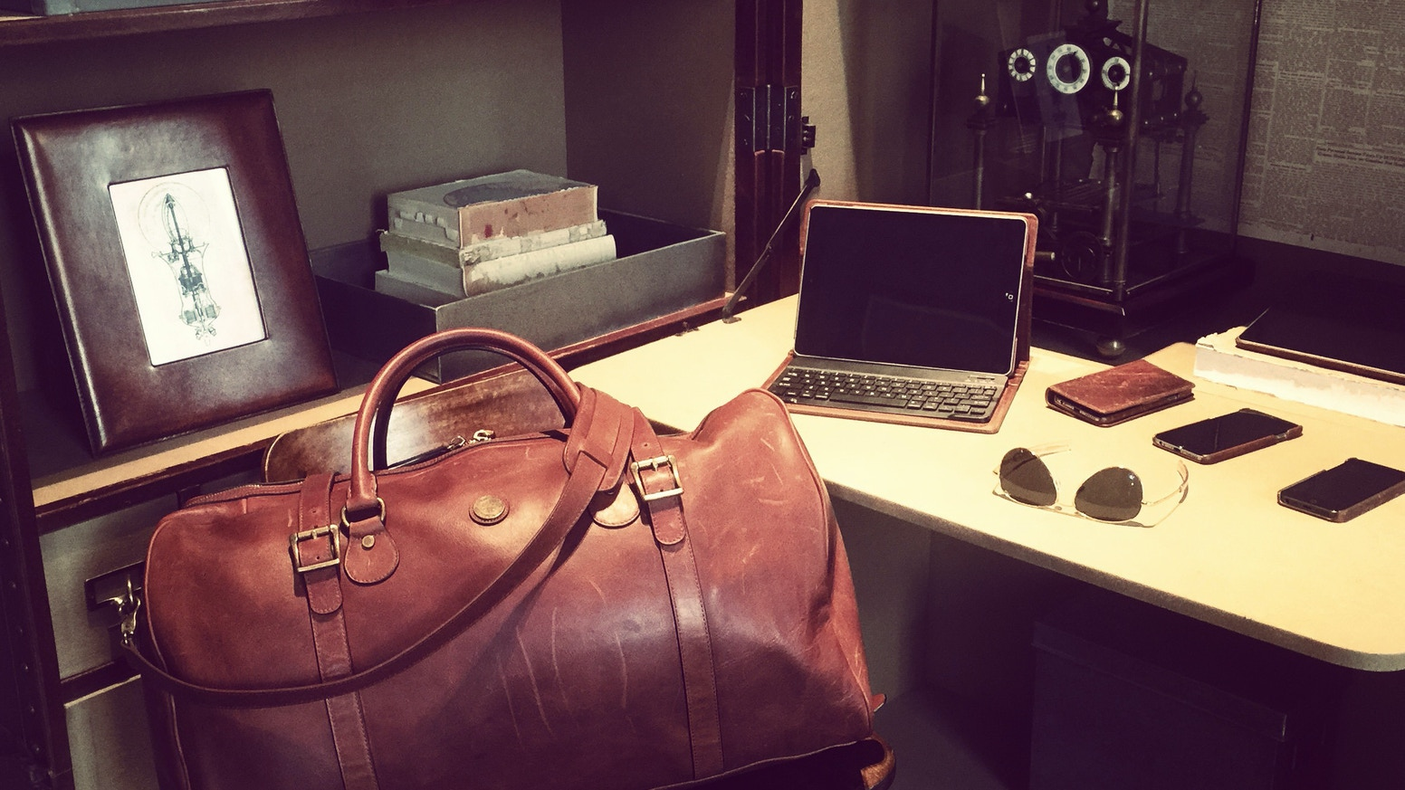 Wellington   Cromwell Leather Duffel Bag Guaranteed for Life by ... c8339a7b6591d