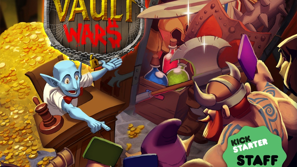 Vault Wars - Bidding and Bluffing Game by Jon Gilmour project video thumbnail