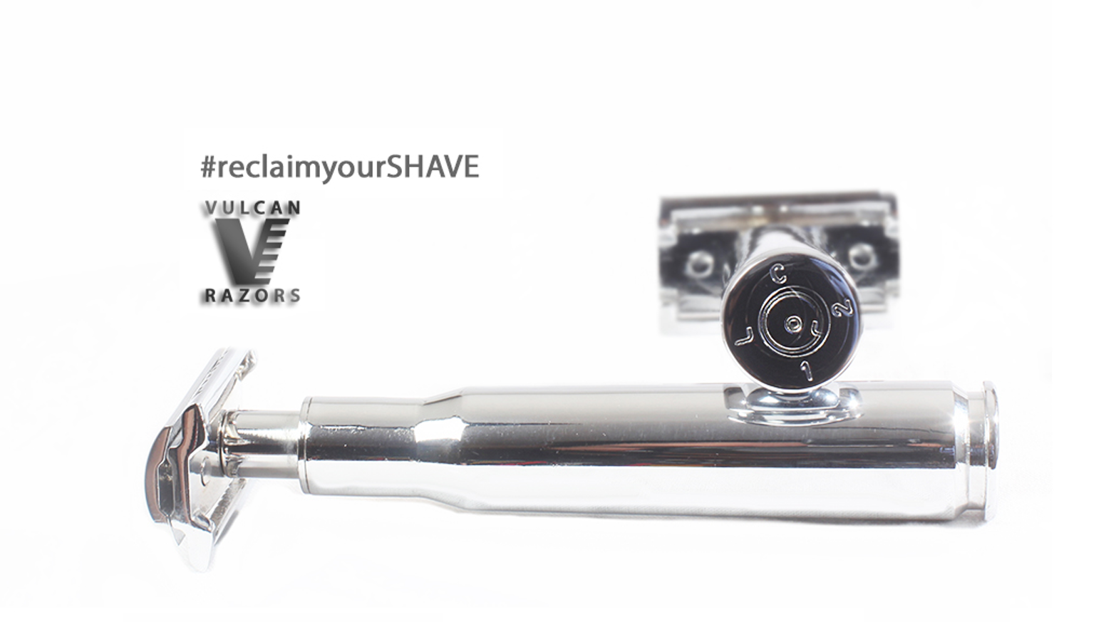 The Vulcan .50 Caliber Razor is restoring the original standard in shaving. Reclaim your shave through the art of repurposing.
