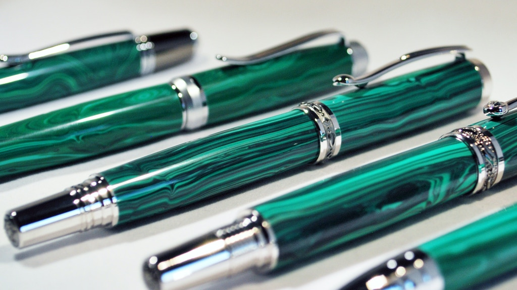 Malachite Writing Instruments - Rock Solid Pens project video thumbnail