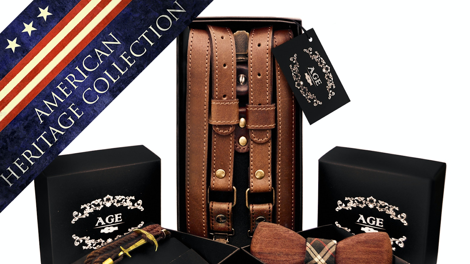 The highest quality accessories made to be used for a lifetime. Genuine leather suspenders, wooden bow ties, premium bracelets.