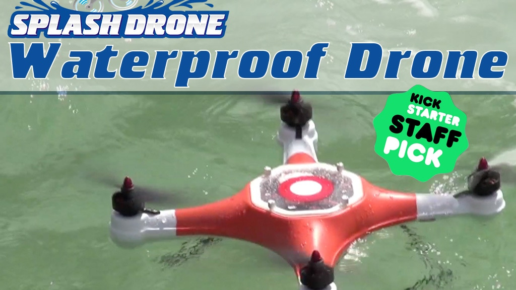 Splash Drone a Waterproof Drone with Autonomous Features project video thumbnail