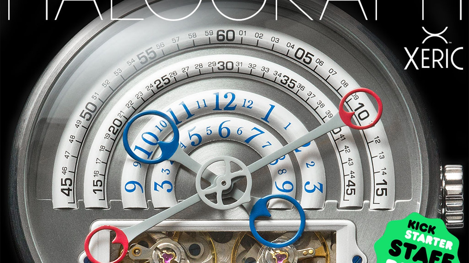 The HALOGRAPH Automatic is a living time machine. YOU are the power source.  Not an electronic gadget, it's a mechanical heirloom!