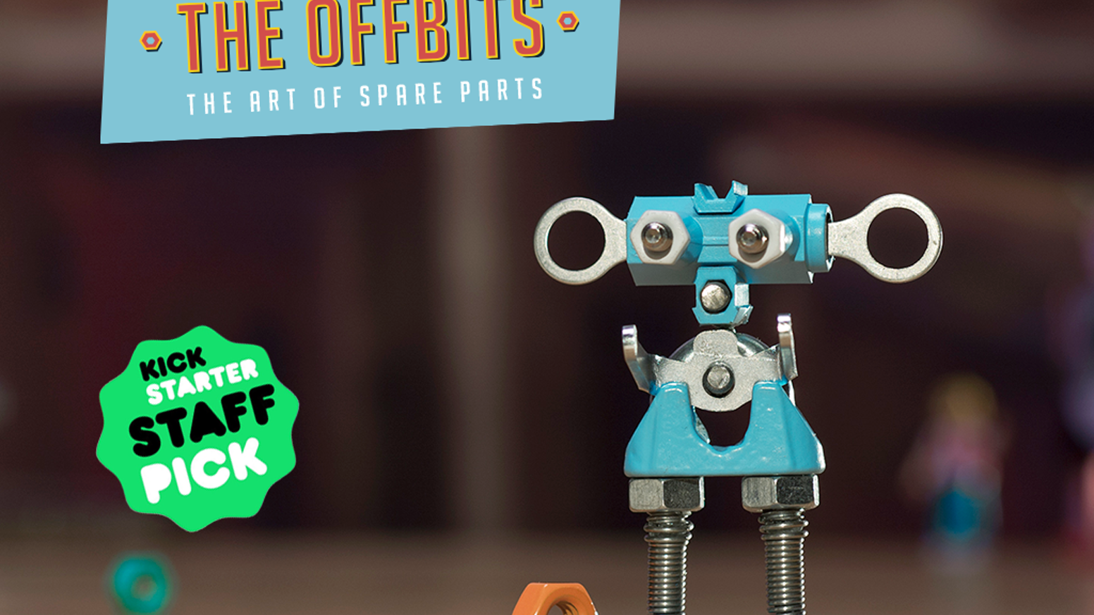 The OFFBITS are build-it-yourself robots made of up-cycled components; connect the bots and create your own designs! Delivered April 2016, now available for purchase on our site!